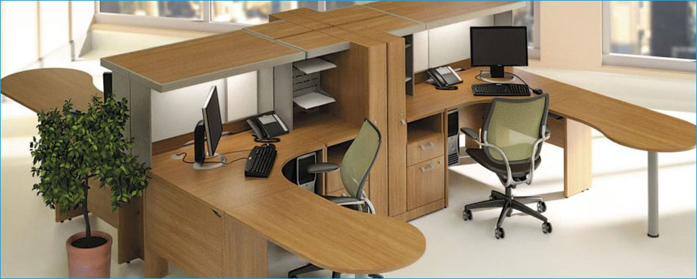Modular Office Furniture Quantum Modern Cherry